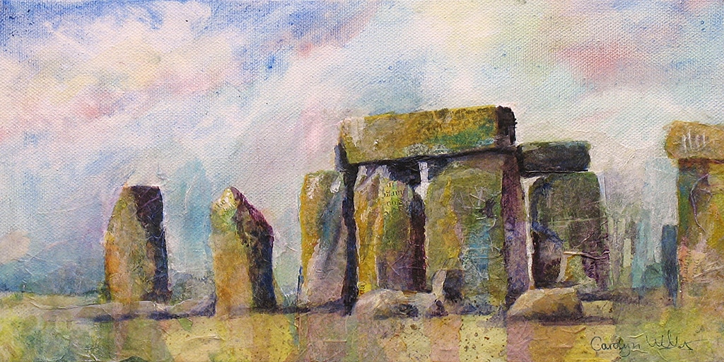 PictureMixed media Painting of Stonehenge ©CarolynWilson